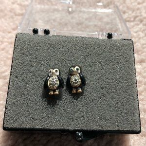JUICY COUTURE penguin stud earrings